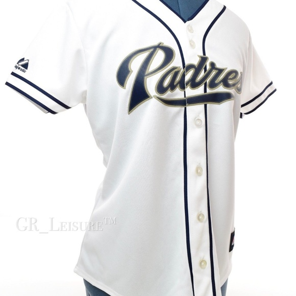 sale retailer 6d613 4fb4e San Diego Padres Women's White Jersey MLB - M NWT